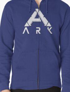 ARK Survival Evolved Minimalist White Zipped Hoodie