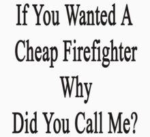 If You Wanted A Cheap Firefighter Why Did You Call Me?  by supernova23