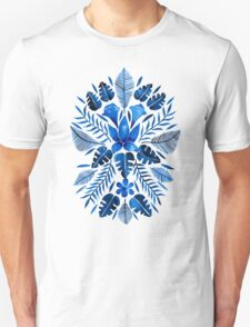 Tropical Symmetry – Navy Unisex T-Shirt