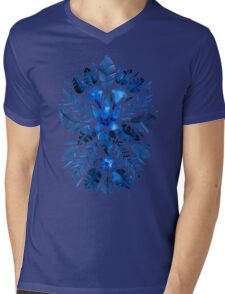 Tropical Symmetry – Navy Mens V-Neck T-Shirt