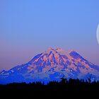 The Super Moon and Mt. Rainier by Tori Snow