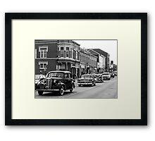 Antique Car Parade Framed Print