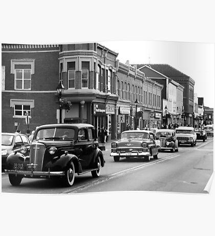 Antique Car Parade Poster