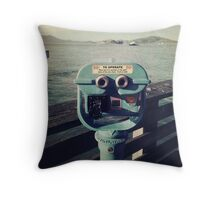 Viewing Alcatraz Throw Pillow