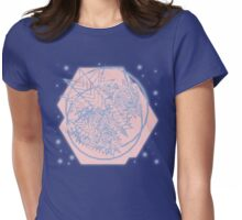 Colors of the Year 2016: Abstract Rose Quartz & Serenity Womens Fitted T-Shirt