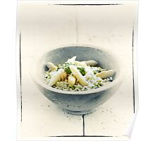 Wild Garlic Risotto With Asparagus Poster