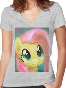 A Cute Girl In Need Women's Fitted V-Neck T-Shirt