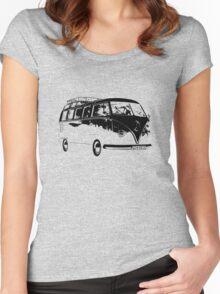 VW Split Screen Camper Women's Fitted Scoop T-Shirt