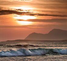 Keel Evening Surf by Derek Smyth