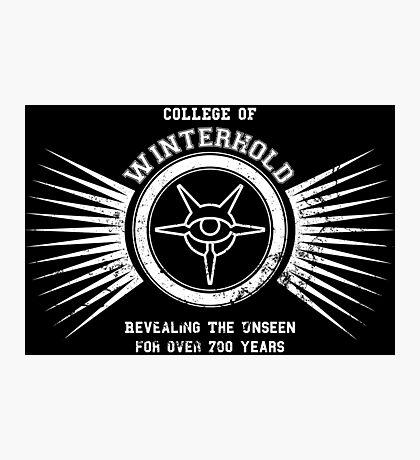 College of winterhold Photographic Print