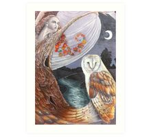 The Owl and the Dryad Art Print