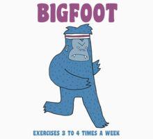 Bigfoot exercises 3 to 4 times a week by DiabolickalPLAN