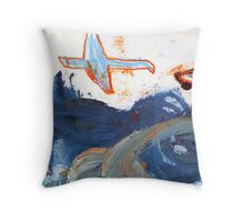 birds above the clouds Throw Pillow