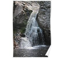 Waterfall in the river Øksna at Korpreiret, the largets canyon in northern Europe. Hedmark, Norway. Poster