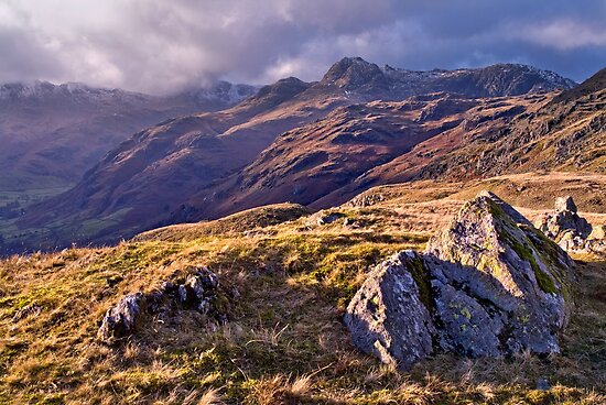 Langdale Light, Great Langdale - The Lake District by Dave Lawrance