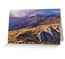 Langdale Light, Great Langdale - The Lake District Greeting Card