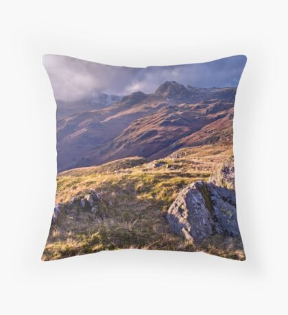 Langdale Light, Great Langdale - The Lake District Throw Pillow