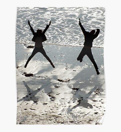 Starfish On The Beach Poster