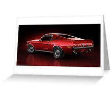 Shelby GT500 - Redline Greeting Card
