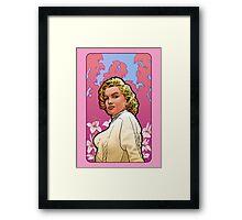 Marilyn Monroe in Mucha Framed Print