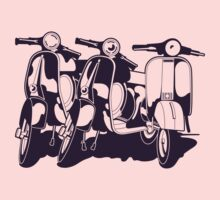 "3 ""Vespa"" Scooters by MuralDecal"