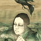 Black fish by elia, illustration
