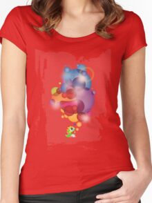 Bubbled Women's Fitted Scoop T-Shirt