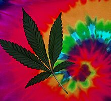 Pot Leaf and Tie Dye by FloraDiabla