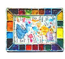 A Watercolorist Palette by ivDAnu