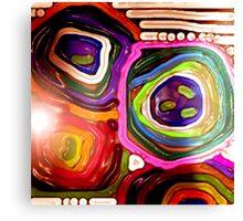 "Decorative stylization ""Bright Flowers"" Canvas Print"