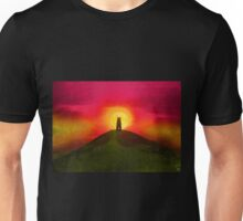 GLASTONBURY TOR SUNSET Unisex T-Shirt