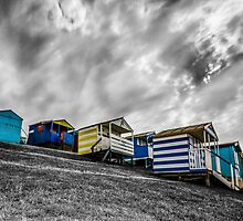 Whitstable beach huts by Ian Hufton