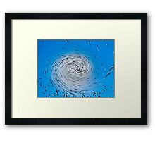 Two Tone Vortex Framed Print