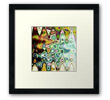 Mind wave Framed Print