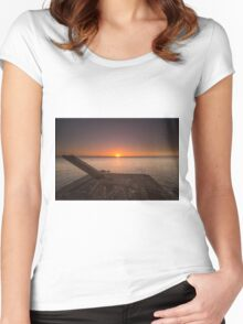 End of the day - Sunset in Nicaragua Women's Fitted Scoop T-Shirt