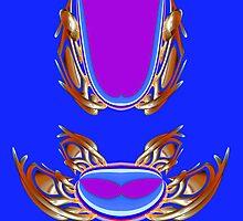 Rhapsody in gold & blue 001 by Wieslaw Jan Syposz