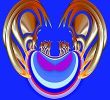 Rhapsody in gold & blue 003 by Wieslaw Jan Syposz