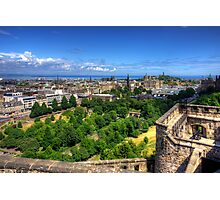Edinburgh from the Castle Photographic Print