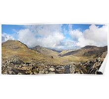 Scafell Pike Cumbria Panorama Poster