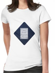 Doctor Who- Tardis Car Sticker  Womens Fitted T-Shirt