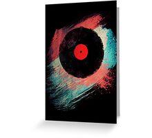 Vinyl Record T Shirt - Modern Vinyl Records T-Shirt Grunge Design Greeting Card