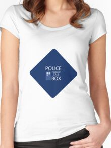 Doctor Who - Tardis Car Sticker  Women's Fitted Scoop T-Shirt