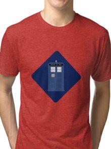 Tardis Car Sticker - simple Tri-blend T-Shirt