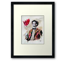 The Doctor and his red balloon. Framed Print