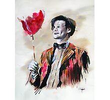 The Doctor and his red balloon. Photographic Print