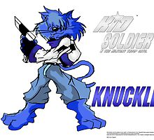 Knuckles-(Heathcliff(Kid Soldier 2012) Poster by TakeshiUSA