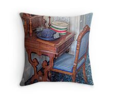 Victorian Hat, Hat Box and Desk Throw Pillow
