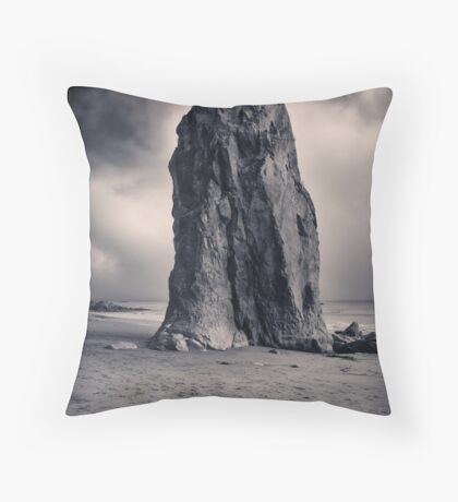 Rialto Beach Sea Stack Throw Pillow