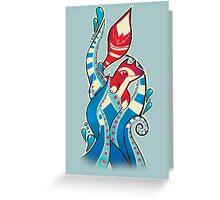 Fox tentacles Greeting Card