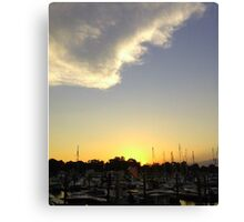 Marina Sunset II Canvas Print